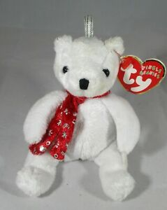 "Ty Jingle Beanies 2000 Holiday Teddy 4"" Sitting Damaged Tag"