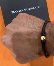 David Yurman 18k Gold / Rubber Bracelet .