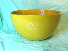 VINTAGE Frankoma Pottery  Salad Serving Bowl  5 N RARE YELLOW WITH TINY SPECKLES