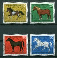 Berlin 326 - 329 ESST Vollstempel Berlin 12 LUXUS gestempelt Pferde mit Gummi