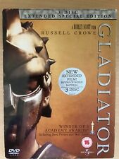 Russell Crowe GLADIATOR  2000 Ridley Scott's Epic Extended Edition 3-Disc UK DVD