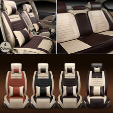 Luxury High Quality PU Leather Car Seat Covers Cushion Full Set 5 Seat Protector