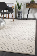 OASIS454 WHITE Modern Rug Large Floor Mat Carpet  *FREE DELIVERY*