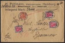 GERMANY 1921 4 MARK Sc 132 (x8) H POLMAN WAX SEAL COVER CONTAINING 36,000 MARKS