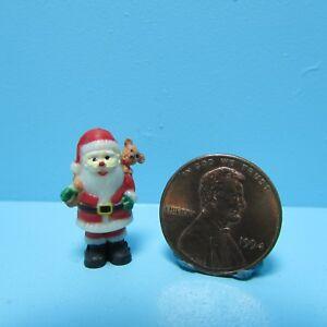 Dollhouse Miniature Christmas Holiday Santa Figurine Decor CAR1247S