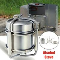 Outdoor Stove Stainless Steel Mini Portable Wine Stove Alcohol  Outdoor Camping