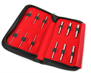 12pc Surgical Steel Ear Stretching Insertion Pin PROFESSIONAL Body Piercing KIT