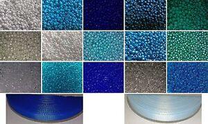 Dummy Clips Making Starter Kit - BLUE - 1500 Pony Beads & 2 Full Rolls Ribbons