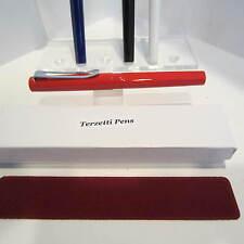 TERZETTI SAFARI RED ROLLERBALL PEN+ POUCH+ GIFT BOX -METAL BODY-GREAT PEN