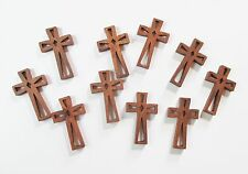 Wholesale Lot of 25 Small Wood Crosses with Decorative Cutouts