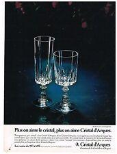 Publicité Advertising 1977 Les Verres Cristal d'Arques modèle Louvre
