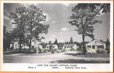 1953 Cape Cod Colony Cottage Ct Shelburne Nova Scotia real photo postcard view