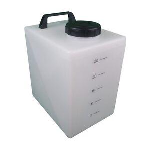 Portable 25 litre industrial water tank car campervan caravan 4x4 boat garden