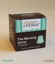 20 Morning Grind High Performance Coffee Capsules for Most Nespresso Machines