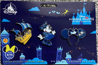 Minnie Mouse: The Main Attraction Pin Set Peter Pan's Flight Limited Release New