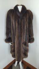 NINA RICCI Vintage Women's Long Raccoon Fur Coat