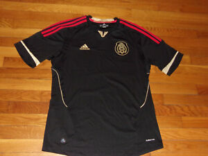 ADIDAS CLIMACOOL MEXICO SHORT SLEEVE SOCCER JERSEY MENS LARGE EXCELLENT COND.