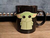 Star Wars Mandalorian Baby Yoda The Child Coffee Mug Cup, 20 oz Black Mug - New