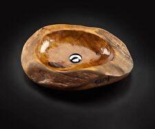 Lavabo lavandino d'appoggio design in legno teak Cip� arredo bagno Batik basin