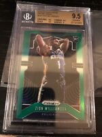ZION WILLIAMSON 2019-20 PANINI PRIZM GREEN REFRACTOR RC BGS 9.5 GEM MINT Subs