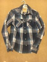 Men's Hollister Short Sleeve Pearl Snap Plaid Shirt Size Small-Excellent Cond!!