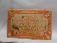 1934 U.S. Revenue Stamp, Half Barrel Fermented Malt-Liquor #0000-8-144-14
