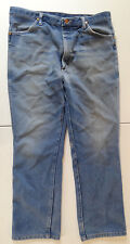 Vintage Made In USA Wrangler Blue Denim Jeans 34x31 Great Wear & Fade