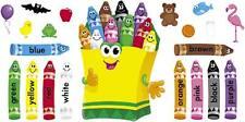 Colorido Crayones Bulletin Board gran aula Display Banner Set