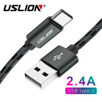 USLION USB C Cable USB Type C to USB 3.0 Charging Cable Fast Charger For Samsung