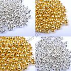 Gold & SILVER PLATED Round SPACER BEADS - 2.4MM 3.2MM 4MM 5MM 6MM 8MM 10MM