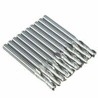 """10pcs Carbide Spiral End Mill 1/8"""" Shank 2 Flute Milling Cutter For 3D Sculpture"""