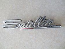 Original Plymouth Satellite car badge