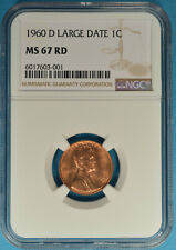 1960-D Lincoln Memorial Cent NGC MS67RD- Exceptional Bright Red Example