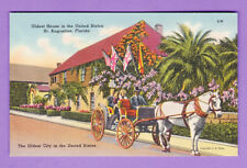 FLORIDA - ST. AUGUSTINE, OLDEST HOUSE IN THE UNITED STATES  POSTCARD  2039