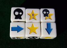 3 Custom bloque dados-Blanco Opaco-Blood Bowl-Fantasy Football