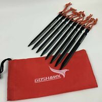 8Pcs 18cm Aluminum Alloy Outdoor Camping Trip Tent Peg Ground Nail Stakes Tri
