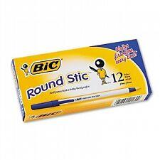Bic Round Stic Ballpoint Pen Blue 12bx 20130