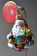 NEW RADKO Christmas Glass Ornament VEST OF ALL Delivery GEM two sided Santa
