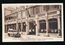 France Aisne SAINT-QUENTIN Hotel Moderne Advert c1950s? PPC
