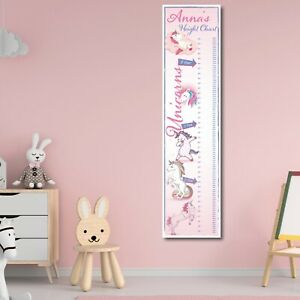 PERSONALISED UNICORN HEIGHT CHART - ANY NAME (1FT X 4FT) CHILDRENS HEIGHT CHART