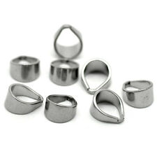 20PCs Stainless Steel Pinch Clips Bail Connectors Jewelry Findings 12mmx10mm
