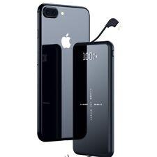 Phone Charger 10000mAh Wireless Charger 2 USB Output Dual Input External Battery