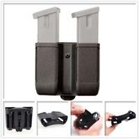 Tactical Duty Belt Double Pistol Magazine Pouch Mag Case Cartridge Clip Holder