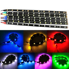 1Pc 15 LED 30cm Auto Car Grill Flexible Waterproof Light Strip Blue Lamp Bar 12V