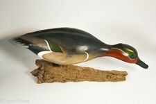 "Beautiful Grean Teal Drake Feeding Decoy William ""Bill"" Goenne GH863"