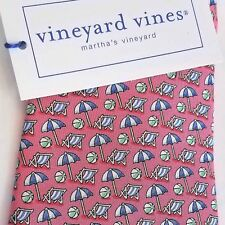 Vineyard Vines BEACH UMBRELLA Pink Boys Necktie Silk NWT $49.50 USA Shep & Ian