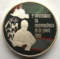 Mozambique 1980 Independence 500 Meticais Silver Coin,Proof
