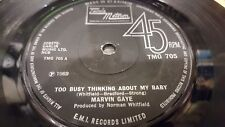 MARVIN GAYE TOO BUSY THINKING ABOUT MY BABY 45 1969