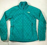 Women's The North Face TNF Thermoball Teal Blue Light Puffer ASIS Jacket Sz Sm