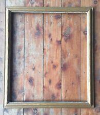 """Vintage Arts & Crafts Frame Wood Large Carved Cove Gold Fits 28 1/4"""" X 24 3/8"""""""